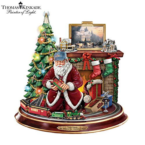 Thomas Kinkade 'Final Touches Of Holiday Cheer' Santa Claus