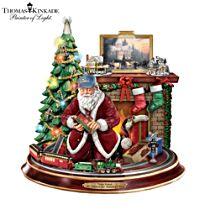 Thomas Kinkade 'Final Touches Of Holiday Cheer' Santa Claus