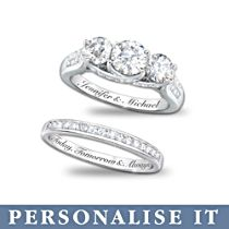 'Diamonesk® Personalised Bridal Ring Set'