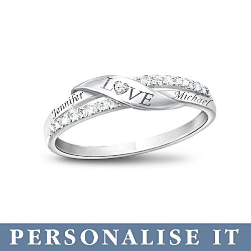 'Love' Personalised Diamond Ring