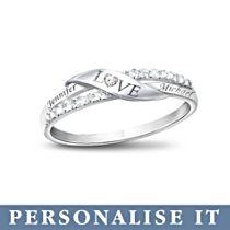 'Love' Personalised Diamond Ring