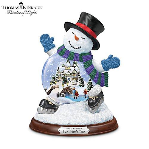 Thomas Kinkade 'Sno' Much Fun' Snowman Snowglobe