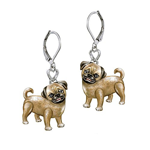 'Playful Pup' Pug Earrings