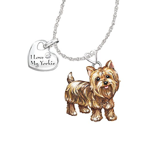 'Playful Pup' Yorkie Diamond Pendant