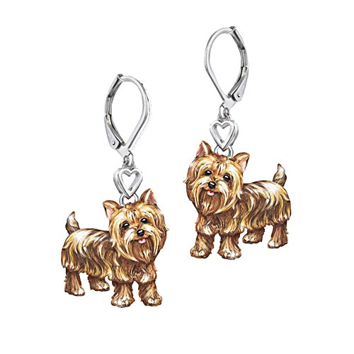 'Playful Pup' Yorkie Earrings
