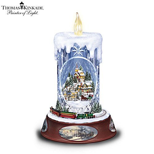 Thomas Kinkade 'Making Spirits Bright' Tabletop Centrepiece