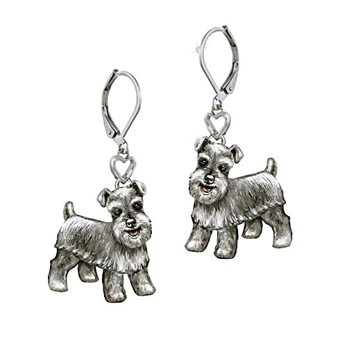 'Playful Pup' Schnauzer Earrings