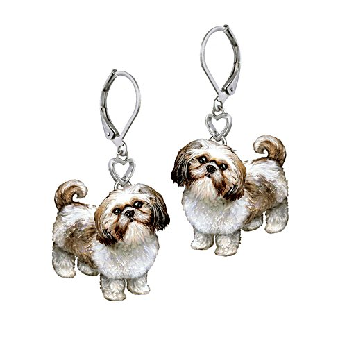 'Playful Pup' Shih Tzu Earrings