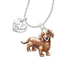 'Playful Pup' Dachshund Diamond Pendant