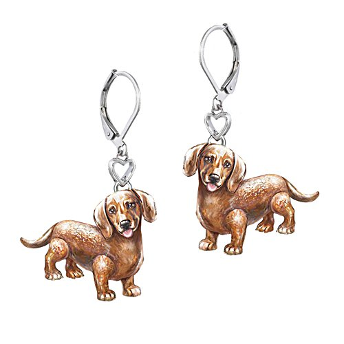 'Playful Pup' Dachshund Earrings