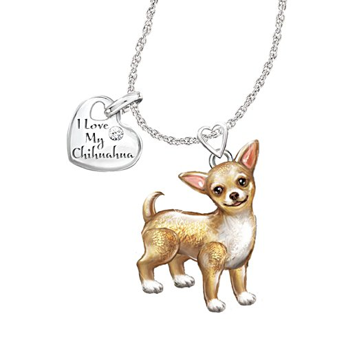 'Playful Pup' Chihuahua Diamond Pendant