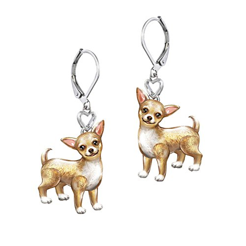 'Playful Pup' Chihuahua Earrings