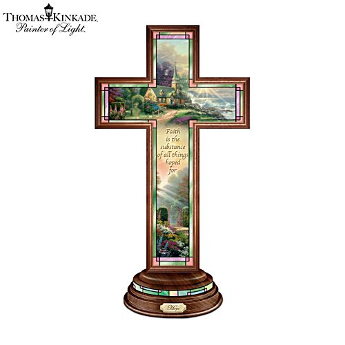 Thomas Kinkade 'Hope' Illuminated Faith Cross