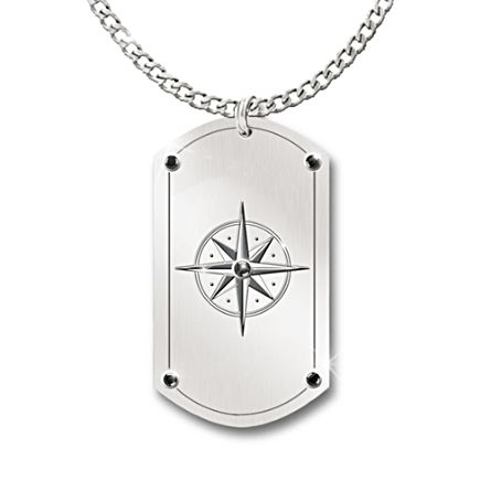 """Forge Your Path"" Dog Tag Pendant For Grandson"