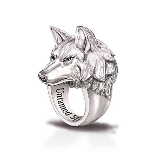 'Leader Of The Pack' Men's Wolf Ring