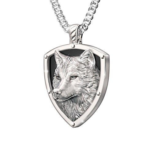 'Leader Of The Pack' Men's Wolf Pendant