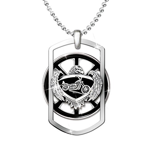'Ride Forever' Motorcycle Spinning Pendant