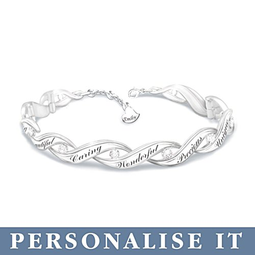 'All That You Are' Daughter Personalised Diamond Bracelet