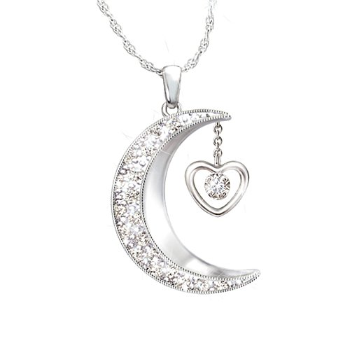 'I Love You To The Moon And Back' Granddaughter Pendant