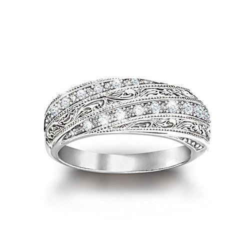 'Diamond Elegance' Filigree Diamond Ring
