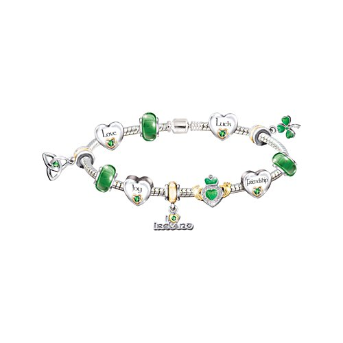 'Irish Blessings' Charm Bracelet