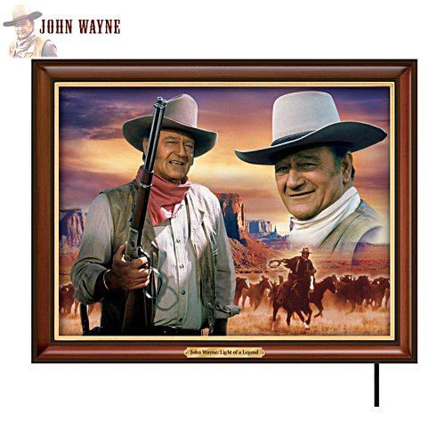 Framed Illuminated Portrait Of The Duke Canvas Print