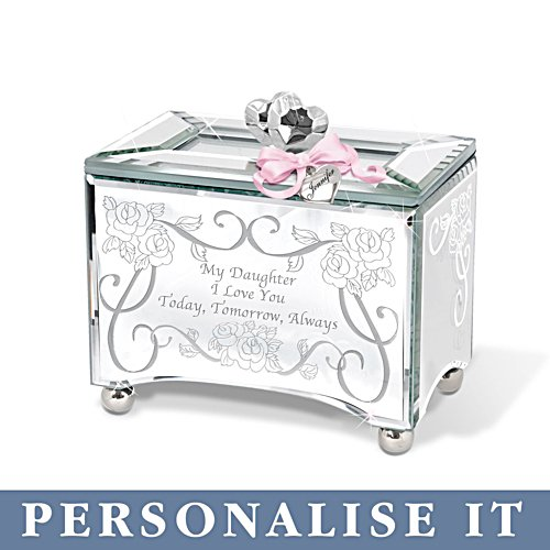 'My Daughter, I Love You' Personalised Mirrored Music Box
