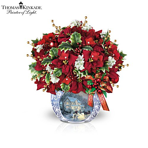 Thomas Kinkade 'Bringing Holiday Cheer' Table Centrepiece