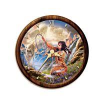 'Illuminating Spirits' Stained Glass Wall Clock