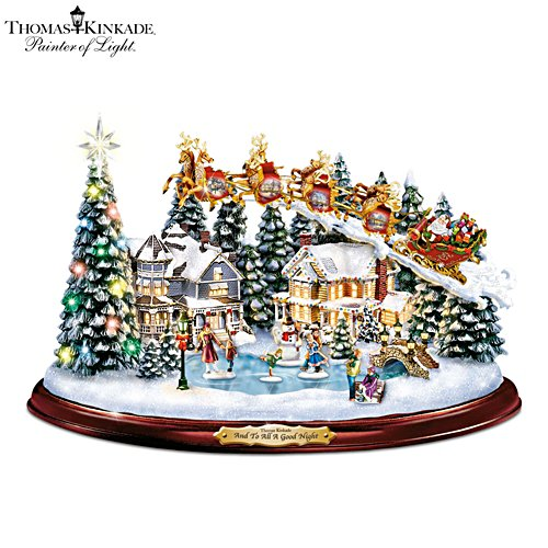 Thomas Kinkade 'And To All A Good Night' Sculpture