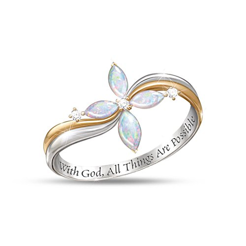 'Opal Trinity' Diamond Ladies' Ring
