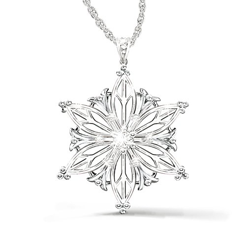 'Unique As A Snowflake' Daughter Diamond Pendant