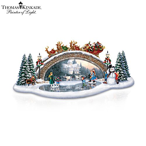Thomas Kinkade 'Light Up The Season' Bridge Sculpture