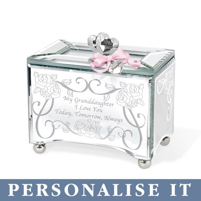My Granddaughter I Love You Personalised Music Box