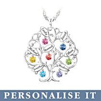'Family Of Love' Personalised Birthstone Pendant
