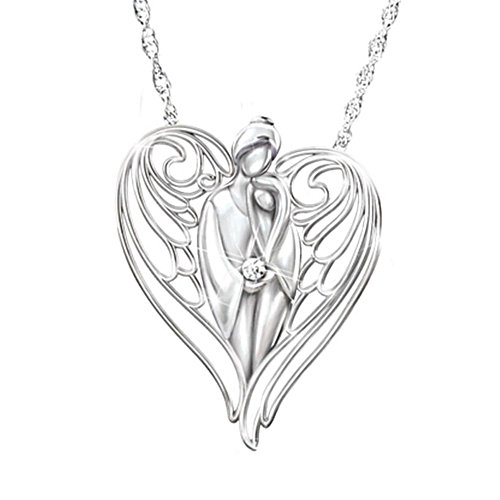'Guardian Angel' Granddaughter Diamond Pendant