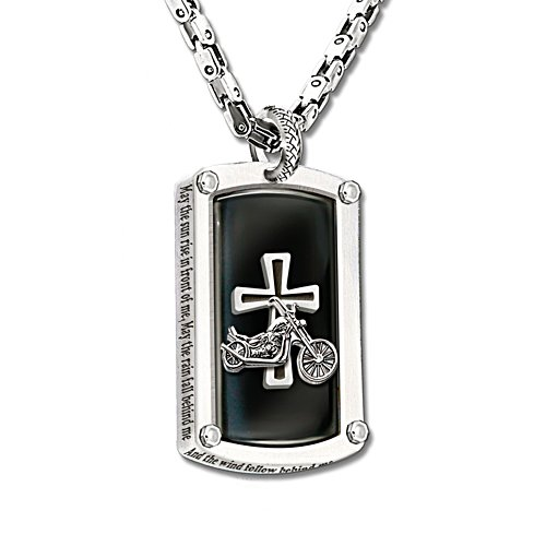 'Biker's Blessing' Dog Tag Pendant