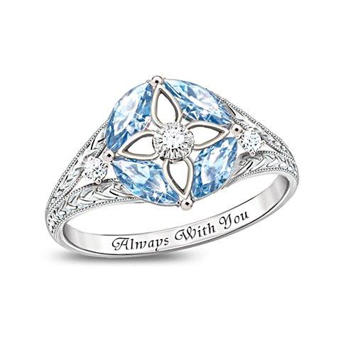 'Light Of Faith' Blue Topaz And Diamond Ring