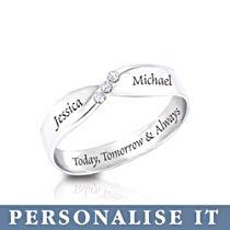 'Infinite Love' Personalised Diamond Ring