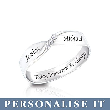 'Infinite Love' Personalised Diamond Ring