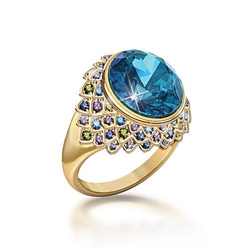 'Peacock Fantasy' Diamonesk® Ring