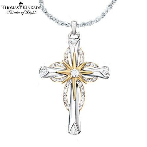 Thomas Kinkade 'Reflections Of Faith' Cross Pendant
