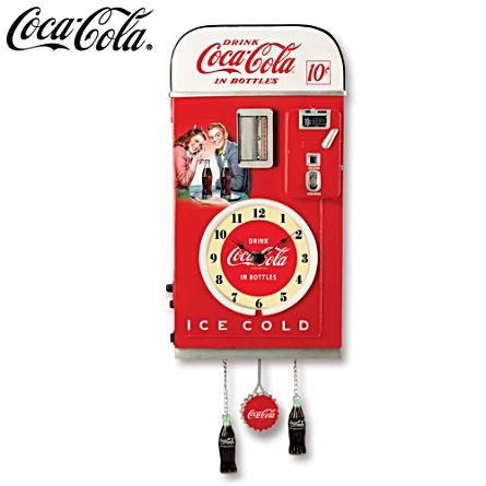 COCA-COLA® 'Time For Refreshment' Vending Machine Wall Clock