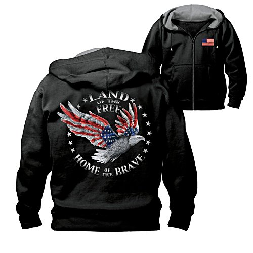 'Home Of The Brave' Eagle Men's Hoodie