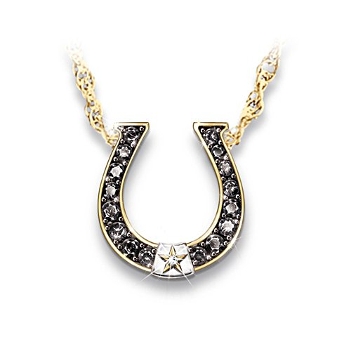 Black Beauty' Sapphire And Diamond Horseshoe Necklace