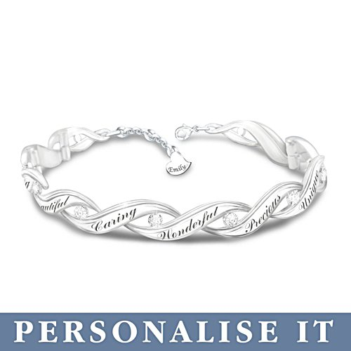 'All That You Are' Granddaughter Personalised Diamond Bracelet
