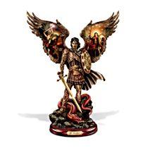 'Michael: Triumphant Warrior' Cold-Cast Bronze Sculpture