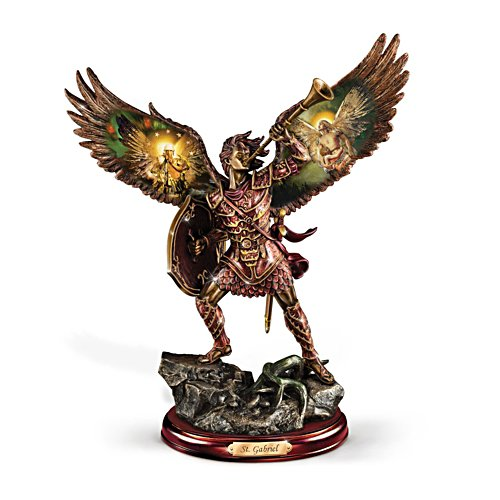 'Gabriel: Heavenly Messenger' Warrior Bronze Sculpture