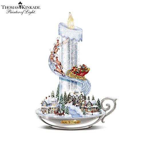 Thomas Kinkade 'Warm Glow Of Christmas' Table Centrepiece
