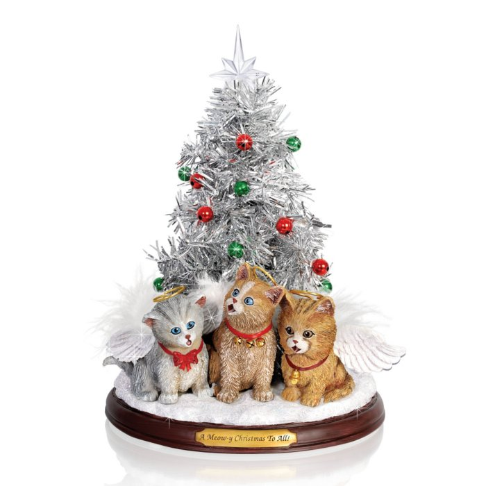 Tabletop Christmas Tree.Jurgen Scholz A Meow Y Christmas To All Tabletop Christmas Tree